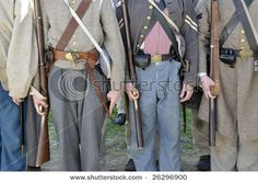 Confederate soldiers lined up