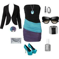 purple teal & black, love the combo
