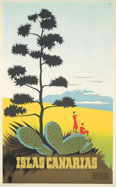 Spain - Canary Islands - Vintage Poster