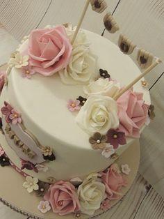 Birthday Cake For Mom, Adult Birthday Cakes, Birthday Cakes For Women, 50th Birthday, Husband Birthday, Birthday Quotes, Birthday Ideas, Birthday Cards, Fondant Cakes