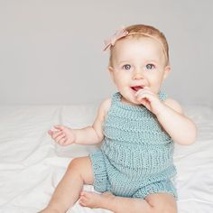 Paris Playsuit Knitting Kit | Stitch & Story - Stitch & Story UK Knitting Kits, Baby Knitting Patterns, Bamboo Knitting Needles, Online Tutorials, Playsuit, Simple Designs, Little Ones, Pattern Design, Baby Kids