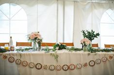 sweetheart table with adorable sign