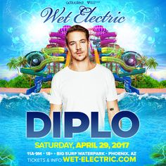 Largest US water park festival Wet Electric announces Diplo as first headliner: The country's largest water park music festival returns…