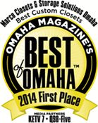 Marco Closets and Storage Solutions voted Best of Omaha 2 years running! We are very proud of our customer support and satisfaction over the years!