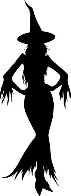 Sexy Witch Silhouette for Halloween or witchy crafts! Retro Halloween, Casa Halloween, Halloween Projects, Holidays Halloween, Happy Halloween, Halloween Decorations, Halloween Window, Witch Silhouette, Illustration
