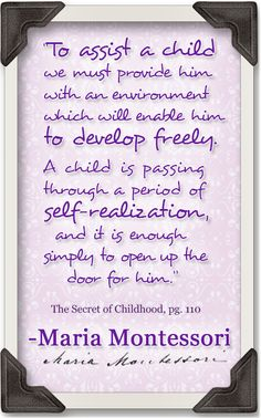To help children learn and develop, we must re-evaluate what 'help' actually defines in the world of education. You are in the right place about Montessori Education classroom Here w Maria Montessori Quotes, Montessori Preschool, Montessori Education, Montessori Materials, Preschool Classroom, Kids Education, Montessori Theory, Toddler Development, Classroom Inspiration
