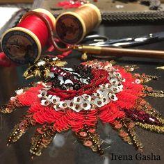 #workinprogress #handembroidery #lunevilleembroidery #newproject #unique #exclusive #irenagashaembroideries