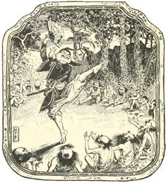 Hok Lee and The Dwarfs - The Green Fairy Book by Andrew Lang, 1892