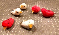 6 Tiny Birds Doves and Cardinals / Miniatures / by VeneciaArt $5.50