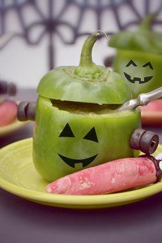 Roasted Cauliflower Frankenstein Soup