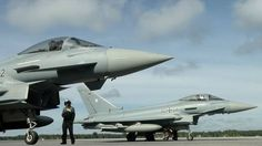 """German Eurofighters mostly from Squadron 31 """"Boelcke"""",stationed in Estonia during NATO Baltic Air Policing mission, September 2015."""
