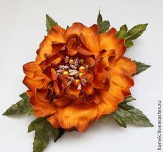 """ЦВЕТЫ ИЗ ФОАМИРАНА. брошь-заколка """"Алегрия"""" - фоамиран,фом эва,цветок ручной работы"""