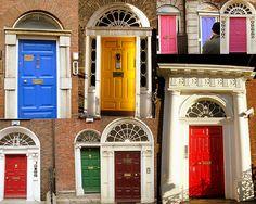 Gregorian's doors, Dublin, Ireland