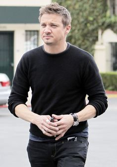 Jeremy Renner.   Repin, but he's so Gorgeous.