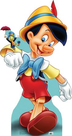 Pinocchio and Jiminy Cricket - From The Adventures of Pinocchio - 786