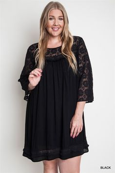 Probably my fave of the plus dresses on the relish pinterest board. I love this in black, and it looks comfortable to boot!