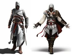 Altair and Ezio from Assassin's Creed...AWESOME costumes for medieval and fantasy faires!!