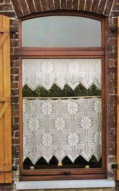 Avec le mod le sur le site rideaux brise bise pinterest for Decoration de cuisine en crochet