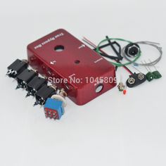 Looper DIY Guitar Pedal footswitch true bypass Aluminum Pedals RED Box Foot Pedal Switch handmade  kit