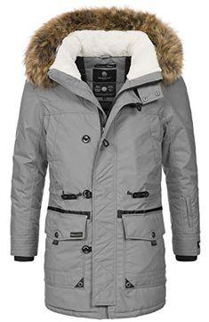 HUIHUI Winterjacke Herren Parka lang Mantel Business Jacket Waterproof Armeegr/ün,XL
