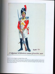 Foreign Troops: Plate 26: 1st Swiss Regiment, Grenadier Private, 1809.