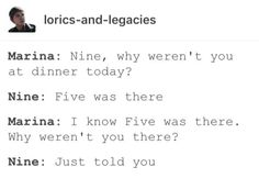 LOL Nine doesn't want to put up with Five's shit