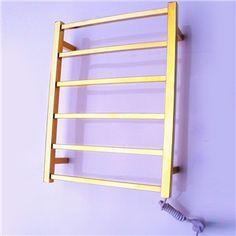 Modern Badheizkörper Handtuchwärmer Edelstahl Wandmontage Gold 60W