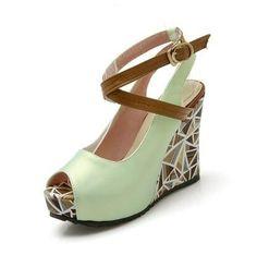 2017 high wedges summer shoes woman fashion ankle strap pumps ladies casual elegant flower print platform shoes mary jane