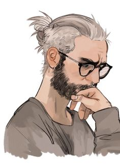 """Hey"" she teased, tugging on his short hair for attention, ""what's with the serious face? And when did you start going silver, old man?"""