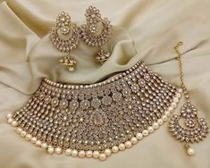 "Beautiful Bride set Agree or not??"" #IndianJewelry"