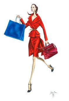 MODERNE ILLUSTRATION .... Diskussion om LiveInternet - Russian Online Diaries Service Fashion Artwork, Fashion Prints, Fashion Design, Hey Girl, Fashion Sketches, Fashion Illustrations, Cute Drawings, Cool Style, Lady