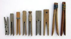 Clothes Pegs (in Canada). Clothes Pins in the U. Wooden Clothespins, Wooden Pegs, Vintage Antiques, Vintage Items, Clothes Pegs, Clothes Lines, Design Industrial, Vintage Laundry, Good Old