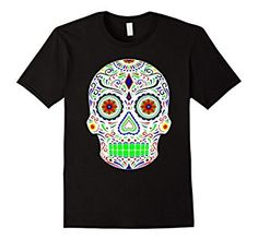 Amazon.com: Day of the Dead and Sugar Skull Shirt: Clothing