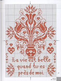 Point de croix *♥* Cross stitch Monochrome