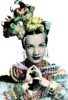 carmen miranda. Totally had a Carmen Miranda routine as a child.