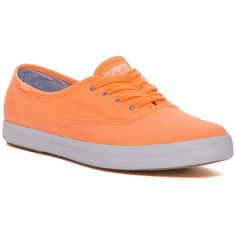 Keds Champion Washed Twill Sneaker ($30) ❤ liked on Polyvore featuring  shoes, sneakers. Neon SneakersOrange ...
