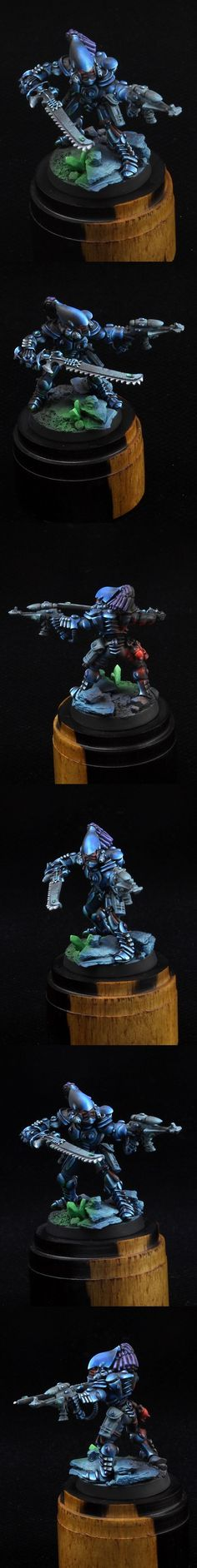 Eldar Striking Scorpions Aspect Warrior - great OLS . Check out the eyes!