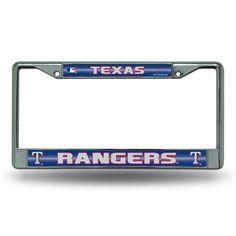 Texas Rangers MLB Bling Glitter Chrome License Plate Frame