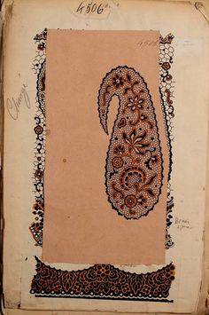 French textile design workbook. Maison Robert. 1863.