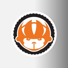 """Spider Monkey Cycling 3.5"""" Logo Decal"""