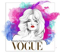 Natasha Poly Vogue Spain November cover illustration