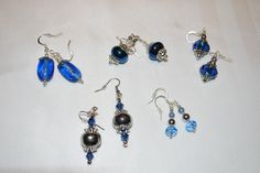 blue Pandora style earrings