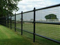 Rough Sawn Wood 4 Rail Fence Stained Black With Attached