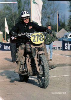 Steve McQueen ISDT 1964 Man beachte die Werbung im Hintergrund: MZ und Simson! Das Rennen fand in der DDR statt!!!!
