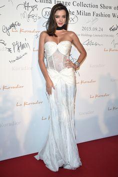 Miranda Kerr at the La Koradior's Milan Fashion Week Show on September 24, 2015