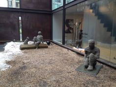 Just finished installing my work at Jim Kempner Fine Art Sculpture court NYC.