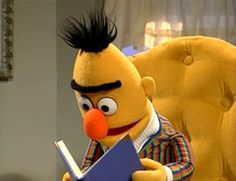 Even Bert from Sesame Street loves to read! I Love Books, Great Books, Books To Read, My Books, Celebrities Reading, Jim Henson, Love Reading, Reading Books, Book People