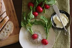 my favorite.  radishes with butter and salt