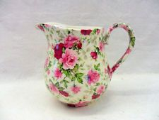 Heron Cross Pottery Cup Cakes Chintz English 2 Pint Milk Jug