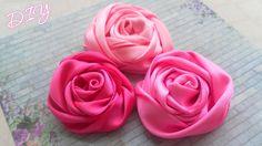 Мастер-класс: Как сделать красивые атласные Розы из лент для украшения одежды или аксессуаров. Tutorial: How to make Satin Ribbon Rose. *********************...